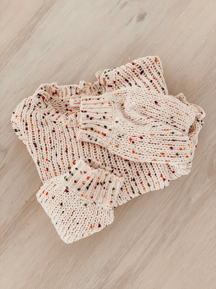 Nora Speckled Distressed Sweater - shoptula