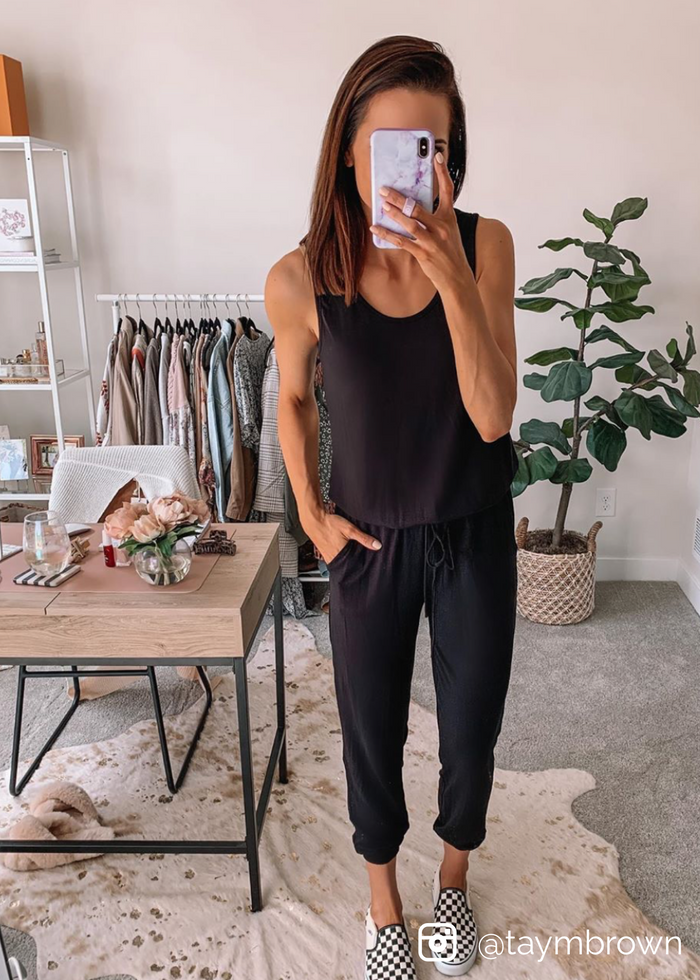 Logan Sleeveless Knit Jumpsuit *low stock* - shoptula