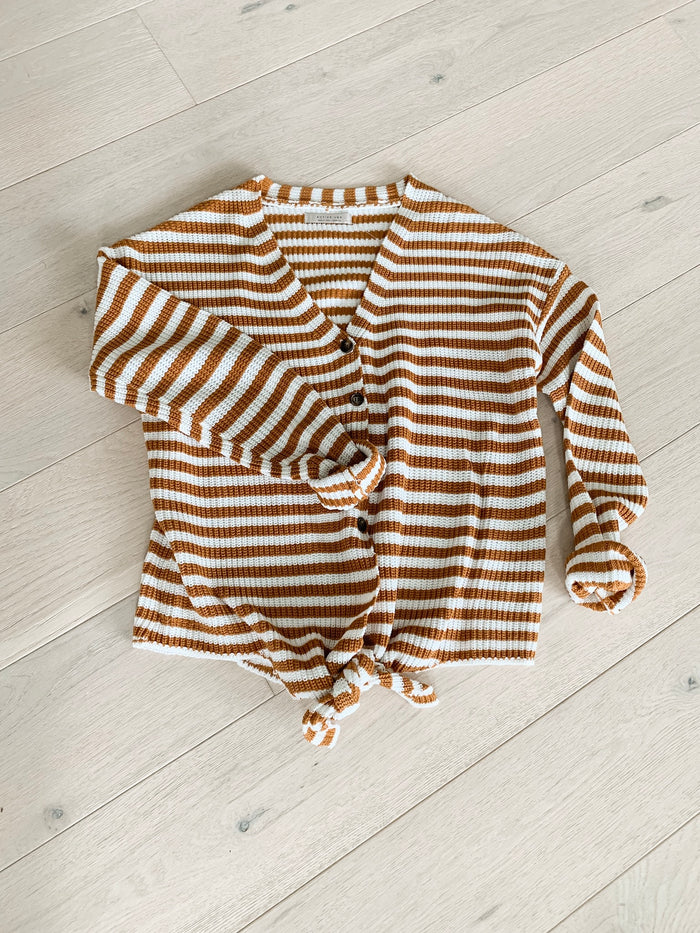 Brayden Button Up Tie Sweater *restocked!* - shoptula