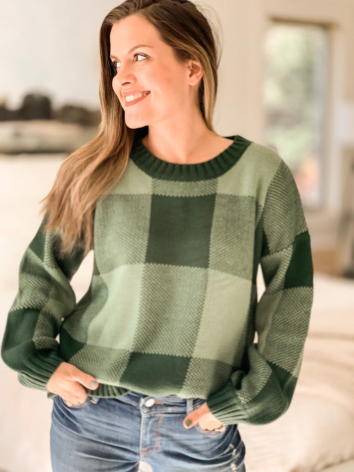 Orchard Plaid Pullover Sweater *LOW STOCK* - shoptula
