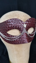Vegan Leather Chain Mask