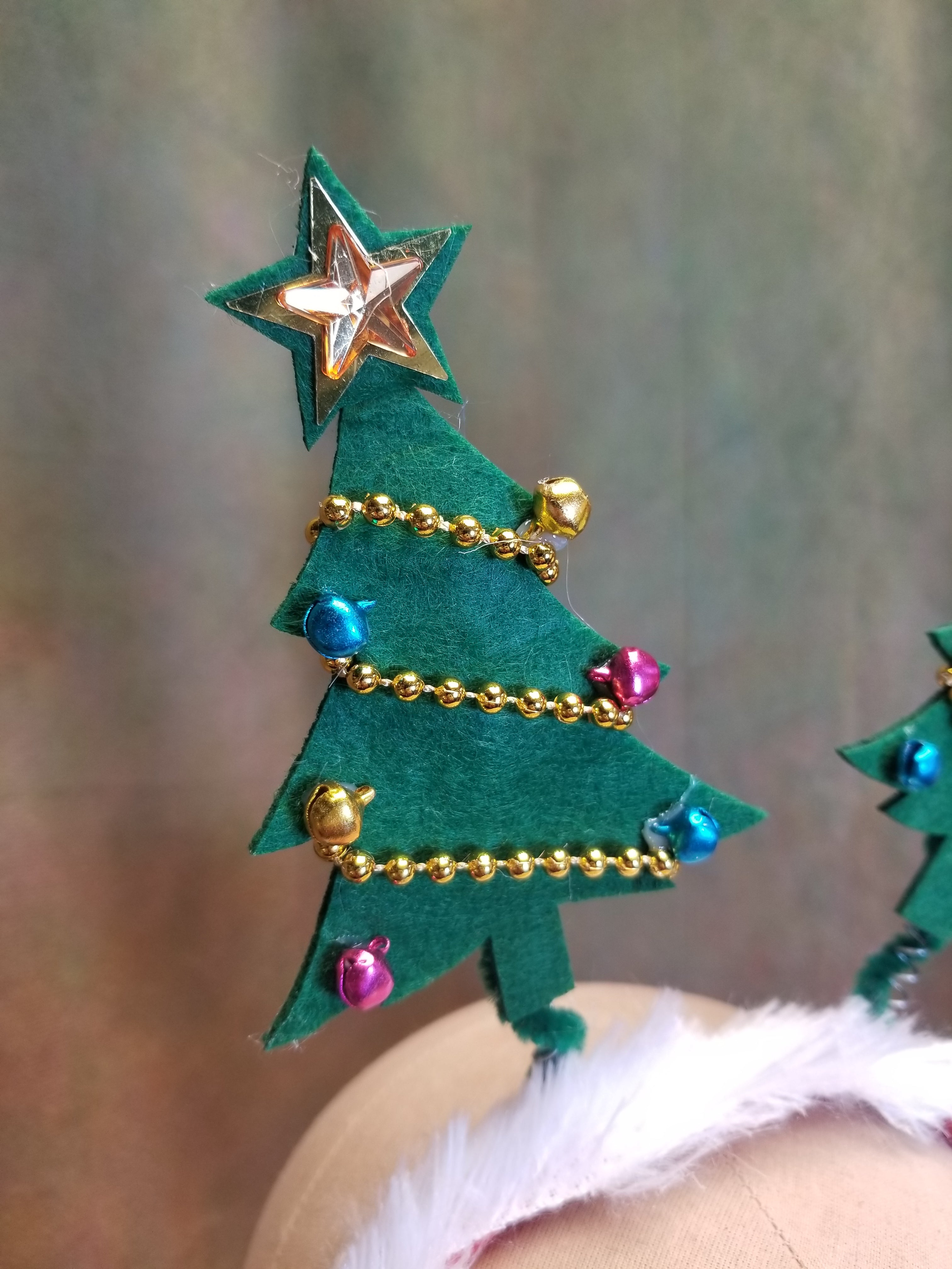 Christmas Tree Bobble Headband