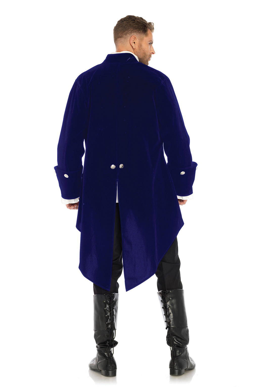 Long Blue Velvet Tail Coat