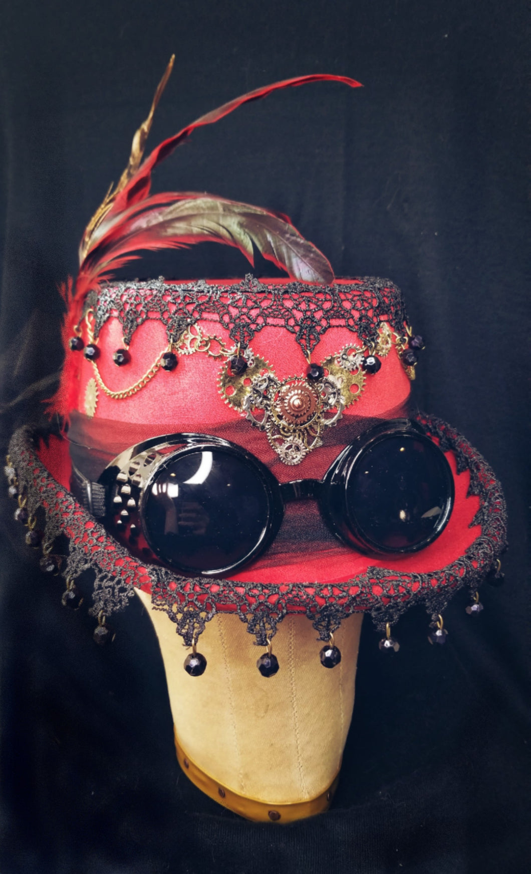 Red Steampunk Hat