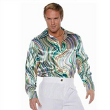 Green Swirl Disco Shirt
