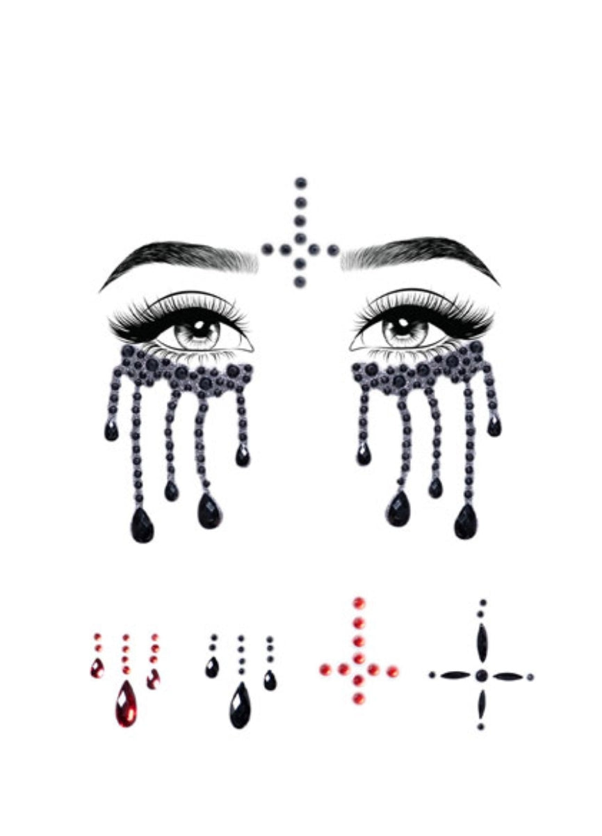 """Possessed"" Adhesive face jewels"