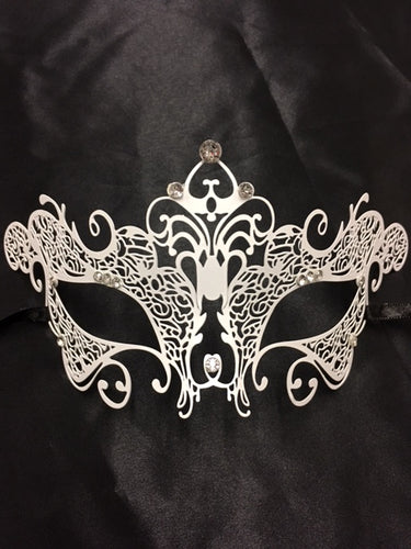 White Lace Metal Mask