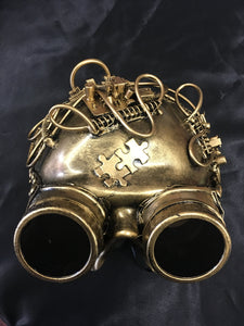 Steampunk Half Mask with Goggles