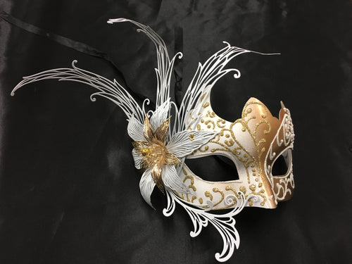 Metal Flower Mask