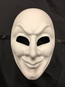 Full White Mask with Expression