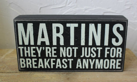 decor funny Martinis Box Sign