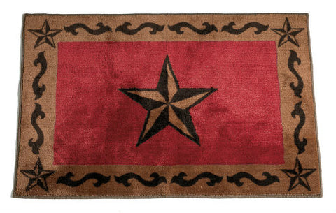 Red Star Washable Rug