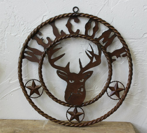 Welcome Deer Metal Sign