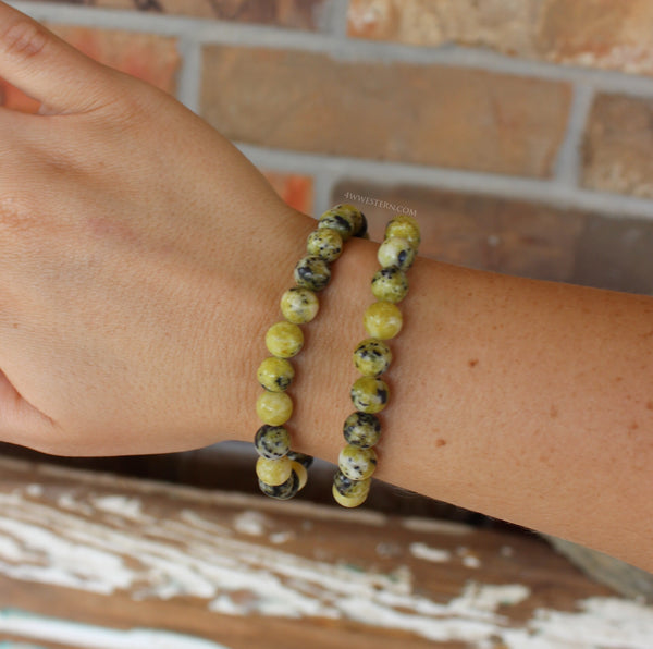 Yellow~Black Stone Bracelet