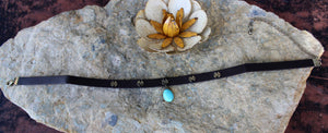 Turquoise Drop Choker Necklace