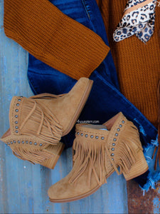 Wyoming Fringe Suede Booties