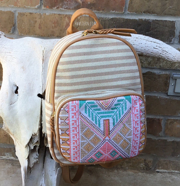 Spring Aztec Back Pack