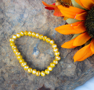 Honey Mustard Crystal Bracelet
