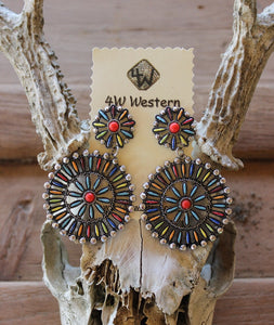 Multi Southwest Post Earrings