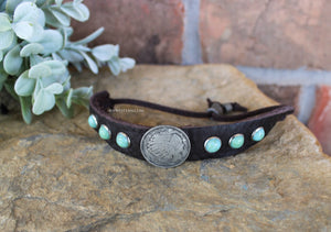 Indian Head Coin Vintage Bracelet