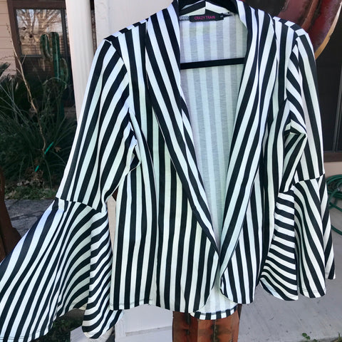 Pin Stripe Bell Blazer