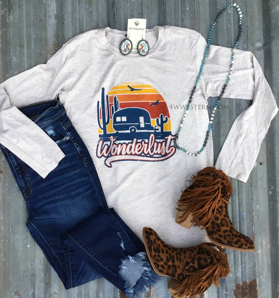 Wanderlust Oatmeal Long Sleeve