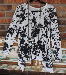 Cow Print Top