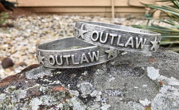Stamped Outlaw Bangle