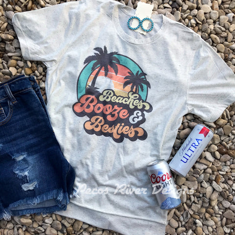 Beach Booze Besties Tee