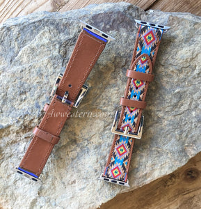 Turquoise Aztec Apple Watch Band