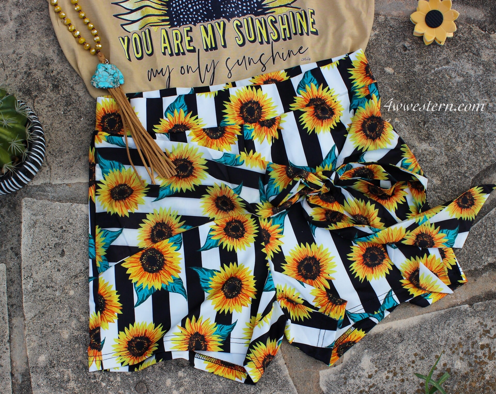Sunflower Stripe Shorts