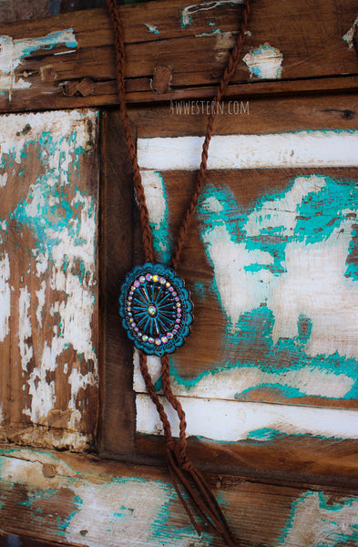 Colorado Concho Bolo Necklace