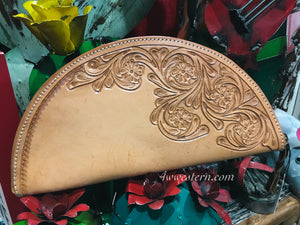 Taco Leather Tooled Clutch