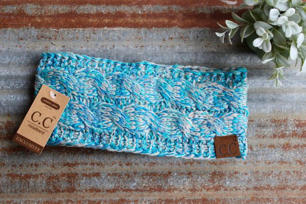 Multi-Tone Teal CC Headband