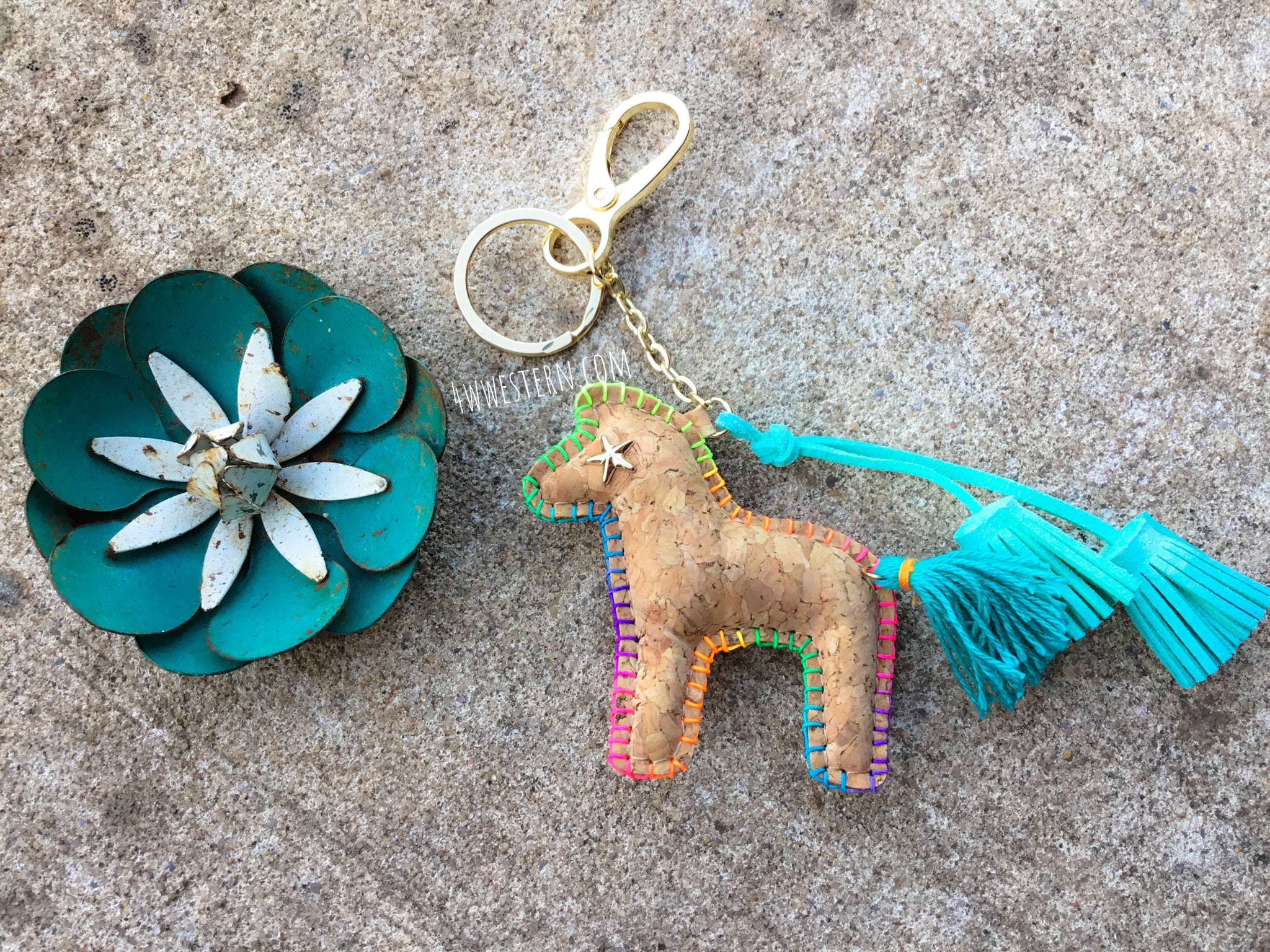 """Painted Pony"" Tassel Keychain"