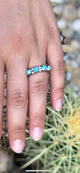 Turquoise Stacker STERLING Ring