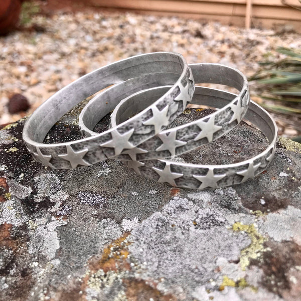 Stamped Star Bangle