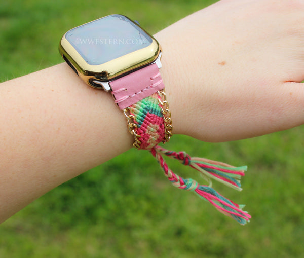 Pink Sunrise Apple Watch Band