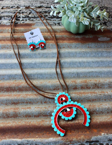 Navajo Blossom Necklace Set