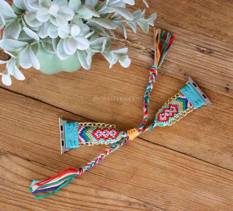 Turquoise Serape Apple Watch Band