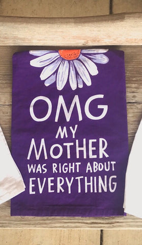 OMG My Mother Dish Towel