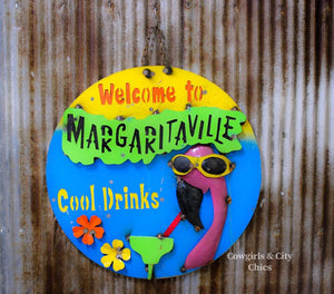 Welcome To Margaritavile Metal Sign