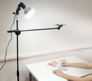 Mobile Tripod Stand With LED Light