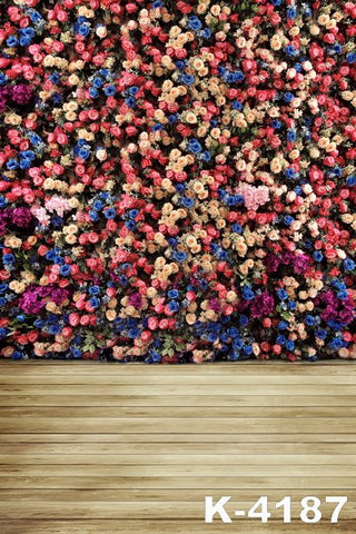Wall of Flowers Photography Background