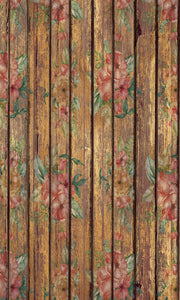 Straight Wood With Red Roses Photography Background