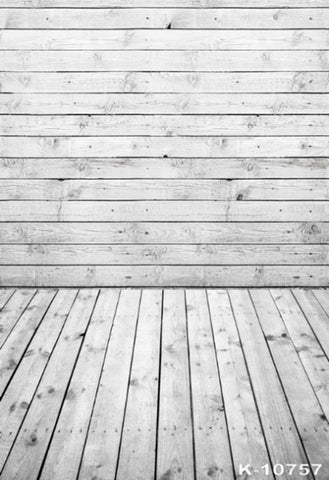 Empty White Wood Photography Background