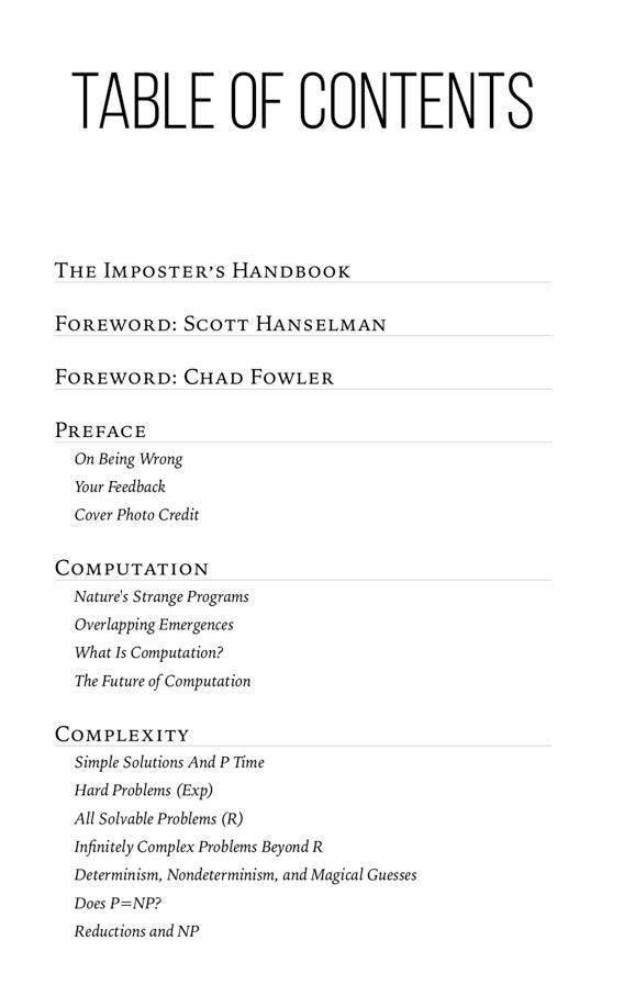 The Imposter's Handbook (ebook)