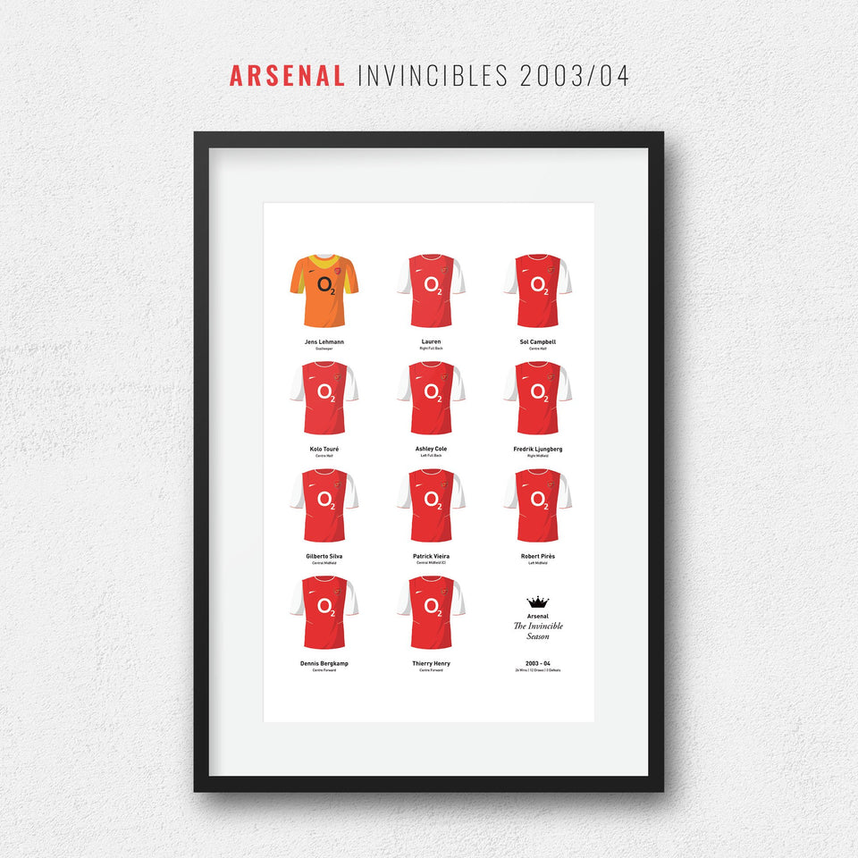 Arsenal 2004 Invincibles Football Team Print - Good Team On Paper