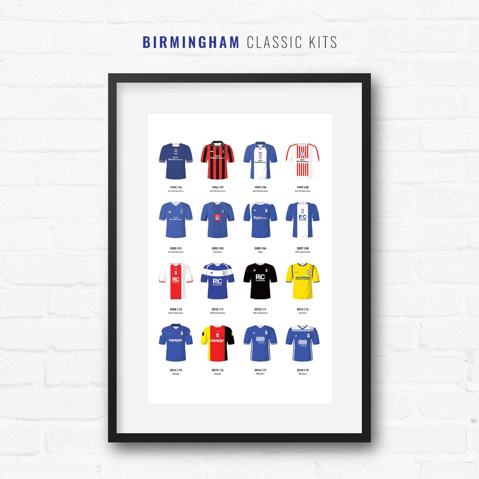Birmingham Classic Kits Football Team Print