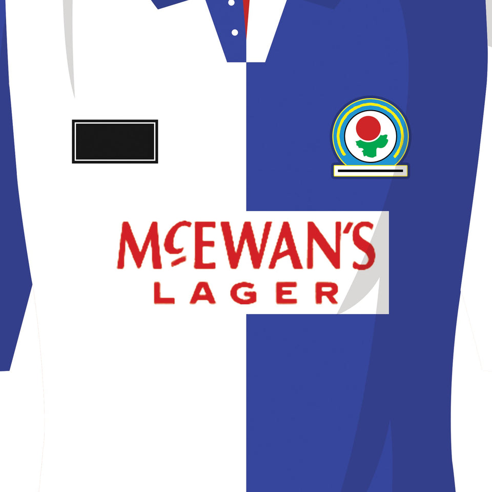 Blackburn Classic Kits Football Team Print - Good Team On Paper